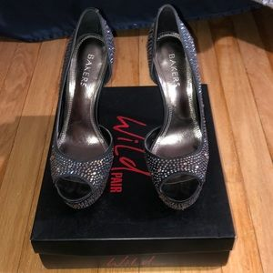 Iridescent Bling Peep Toe Heel